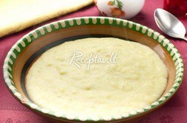 Itališka manų kruopų sriuba