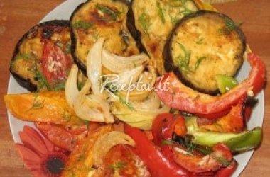 Grilyje keptos daržovės