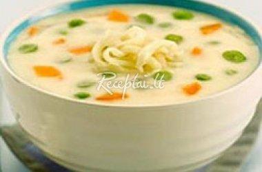 Daržovių pieniška sriuba