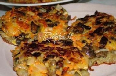 Blyninės picos iš bulvių