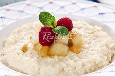 Obuolių ir ryžių pudingas