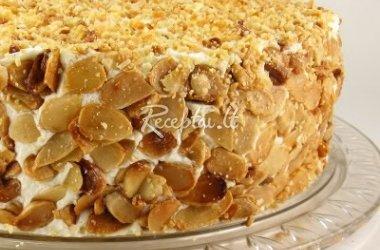 Obuolių tortas su varške