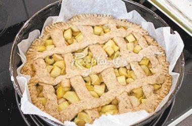 Obuolių-rabarbarų pyragas