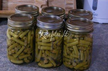 šparaginės pupelės - marinate
