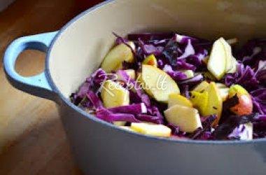 Kopūsto raudonosios salotos