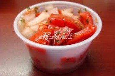 Šiltos daržovių salotos