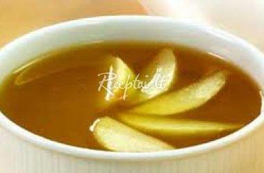 Obuolių sriuba su grietinėle