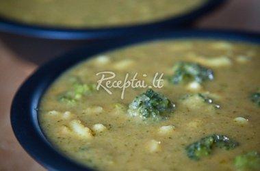Brokolių sriuba su pupomis