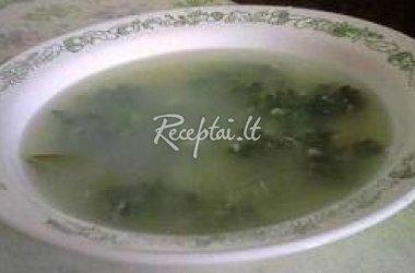 Kiaulpienių sriuba