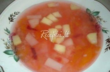 Saldi obuolių ir kriaušių sriuba