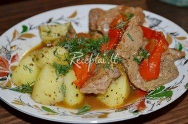 Mėsa su pipirais