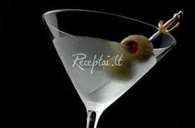 Kokteilio Gin Martini gaminimas
