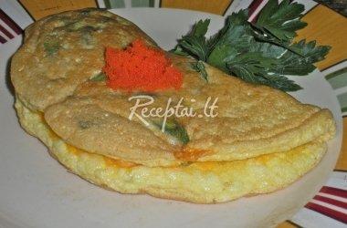 Omletas su šernienos paštetu