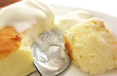 Purus rikotos sūrio apkepas