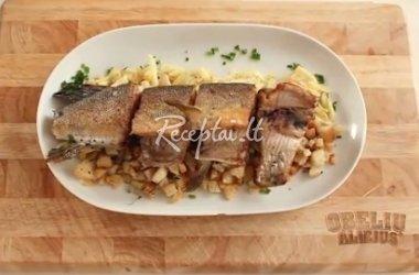 Bajoriška žuvis su pasninko spirgučiais pagal Radvilų virėjo receptą