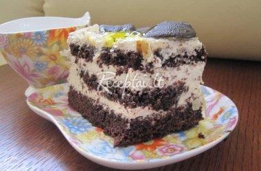 Varškės ir šokolado tortas