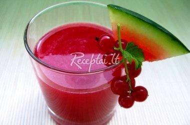 Arbūzų - raudonųjų serbentų sultys