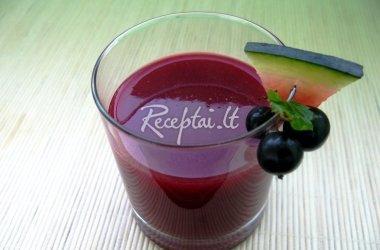 Juodųjų serbentų - arbūzų sultys