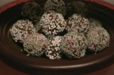 Margaspalviai kamuoliukai (Strösselbollar)