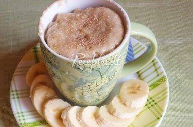 Bananų pyragas puodelyje