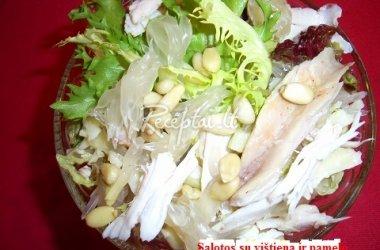 Salotos su vištiena ir Pamelo greipfrutu