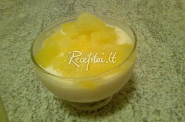 Gaivus jogurto - želė desertas