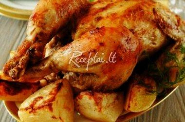 Traškus viščiukas broileris su majonezo marinatu