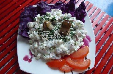 Kalmarų salotos su grybais