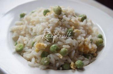 Ryžiai su kiaušiniais ir žirneliais