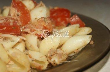 Makaronų salotos su tunu