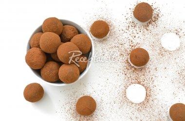 Alaus ir juodojo šokolado triufeliai su graikiškais riešutais
