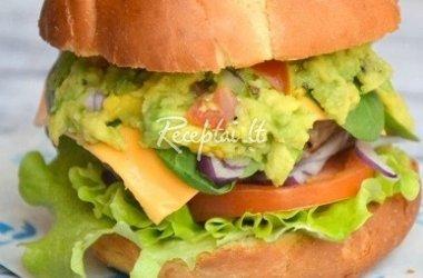 Jautienos burgeris su avokadais