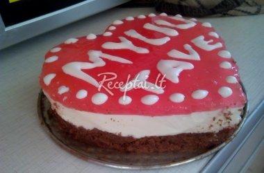 Valentino dienos tortas ,,Myliu tave''