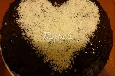Kokosinė širdelė šokolade